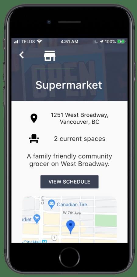 Mockup containing Skipt app screenshot showcasing features